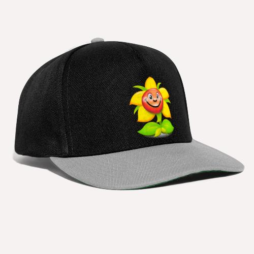 Smiling Face Happy Flower - Snapback Cap