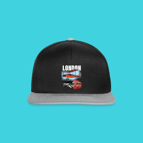 London by day and night! - Snapback Cap