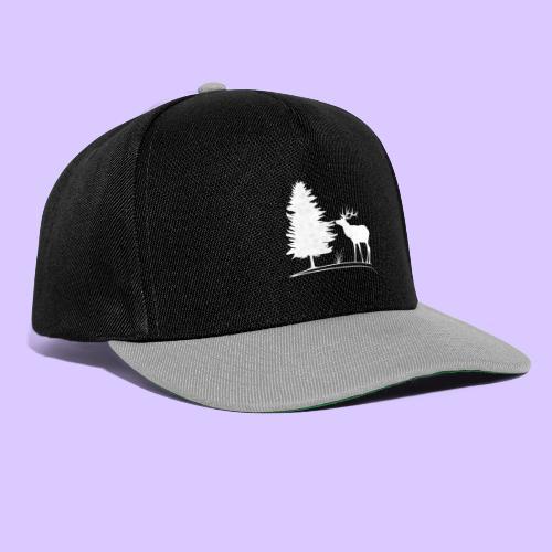 Hirsch, Geweih, Rehbock, Jagd, Wald, Baum, Wild - Snapback Cap