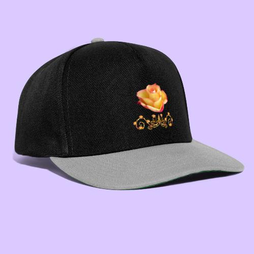 orange Rose, Ornament, Rosen, Blumen, Blüten, edel - Snapback Cap
