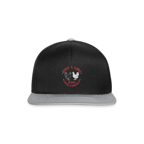 just a girl who loves chicken - Snapback Cap