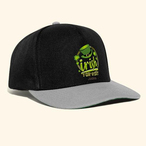 St. Patrick's Day T Shirt Design Irish For A Day - Snapback Cap