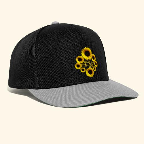 Sonnenblumen mit Ornament, Sonnenblume, Blumen - Snapback Cap