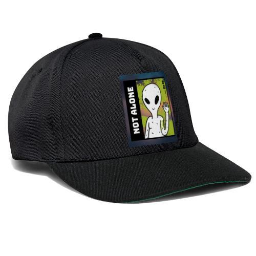 alien t shirt design maker featuring a smiling ali - Snapback Cap