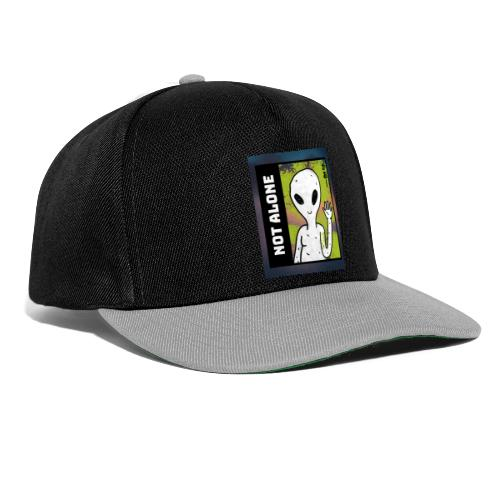 alien t shirt design maker featuring a smiling ali - Snapback Cap