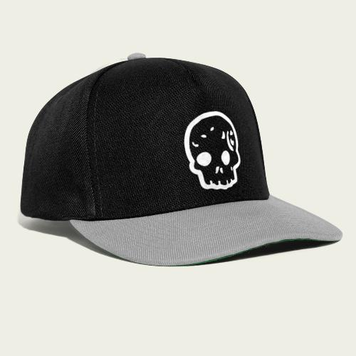 Skull logo whi - Gorra Snapback