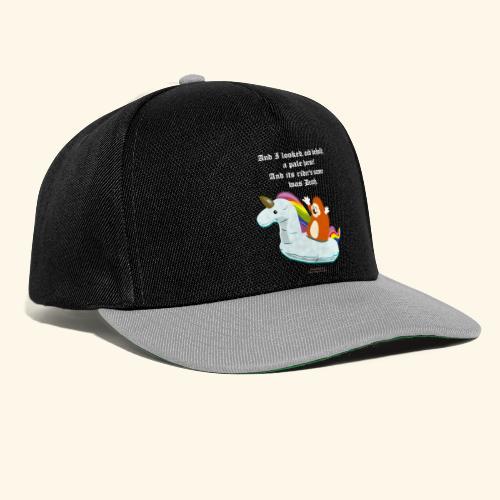 Geek T Shirt Igel, Einhorn & Johannes-Offenbarung - Snapback Cap