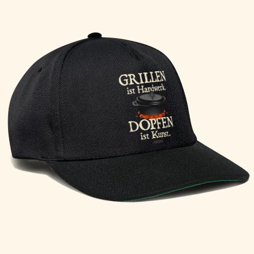 Dutch Oven T-Shirt Grillen Handwerk Dopfen Kunst - Snapback Cap