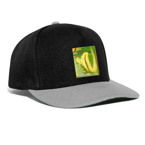 Abstract Green Gold Red - Snapback Cap