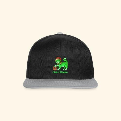 I hate Christmas giftig grüne Weihnachtsmann Katze - Snapback Cap