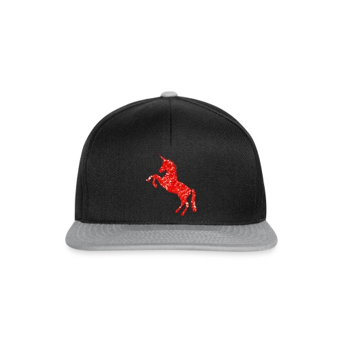 unicorn red - Czapka typu snapback