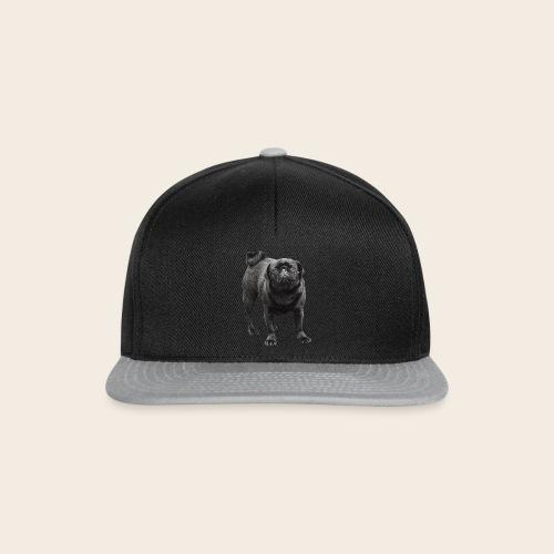 schwarzer Mops - Snapback Cap