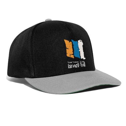 Israel National Trail Wegmarkierung, weiß - Snapback Cap