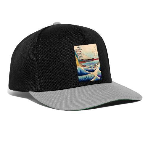 Japanese Wave - Snapback Cap