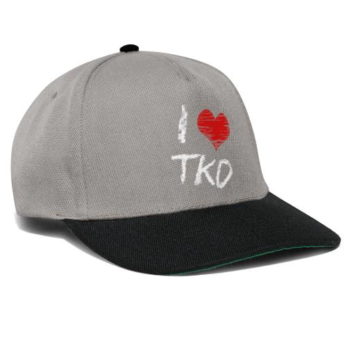 I love tkd letras blancas - Gorra Snapback
