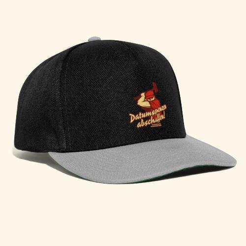 Lustiges Sprüche T Shirt Datumsgrenzen abschaffen - Snapback Cap