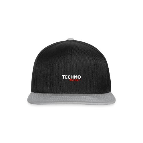 TECHNO what else? - Snapback Cap