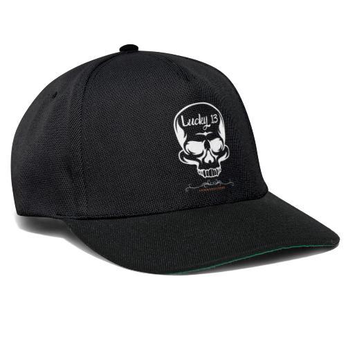 Lucky 13 , Skull Totenkopf 13 Bobber Biker Rocker - Snapback Cap