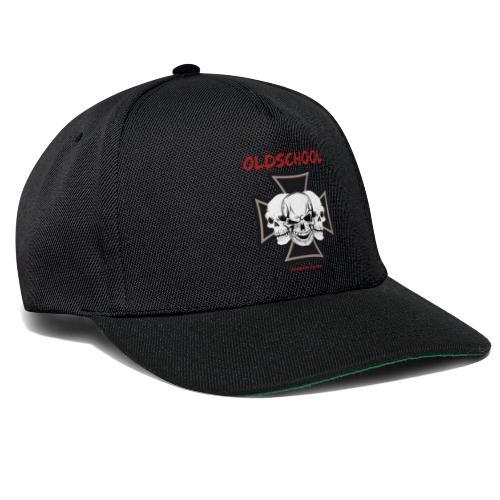 Oldschool - Mundschutz Biker Skull Totenkopf - Snapback Cap