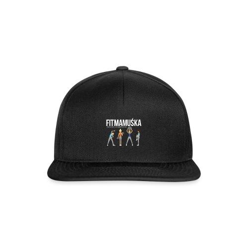 Fitmamuśka - Koszulka Czarna - Czapka typu snapback
