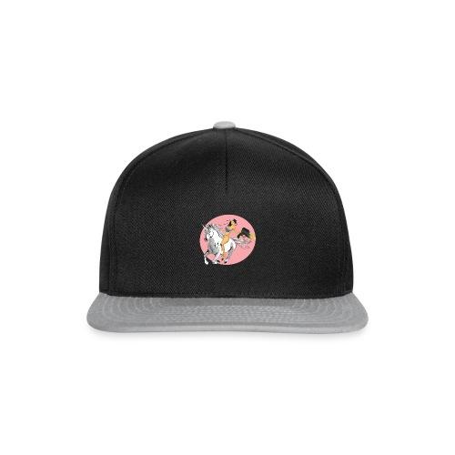 unicorn laser bikini girl - Snapback Cap