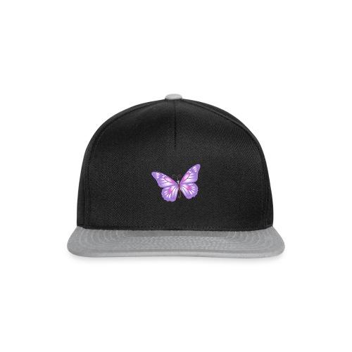 mariposa bb lila - Gorra Snapback