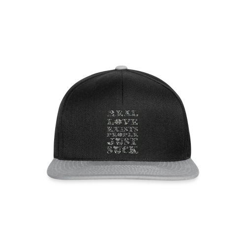 Real Love Exists REBEL INC. - Czapka typu snapback