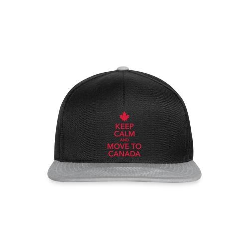 keep calm and move to Canada Maple Leaf Kanada - Snapback Cap