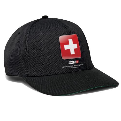 REGA-TV: Switzerland, weisse Schrift - Snapback Cap