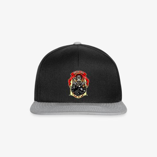 Teschio con casco, birra e chiave inglese - Snapback Cap