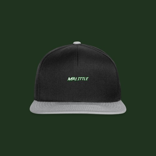 A simple text which fits on dark colours. - Snapback Cap