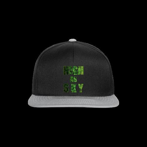 High as Sky Weed Design - Snapback Cap