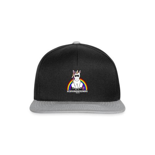 Einhorn Tekkno Regenbogen - Snapback Cap