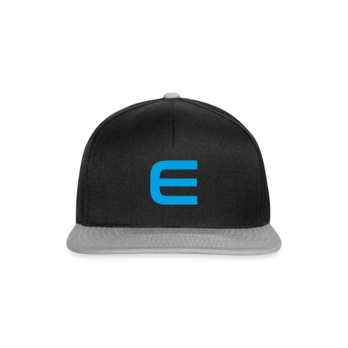 E - Blau - Snapback Cap
