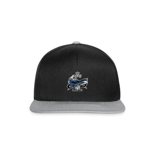 0885 FJR KING of the ROAD (blauw) - Snapback cap