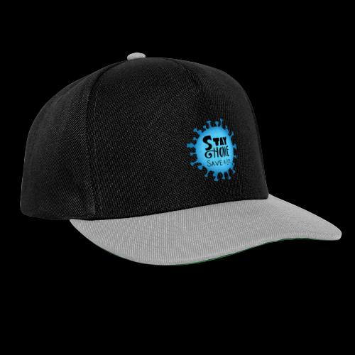 Stay Home (Blue) - Snapback Cap