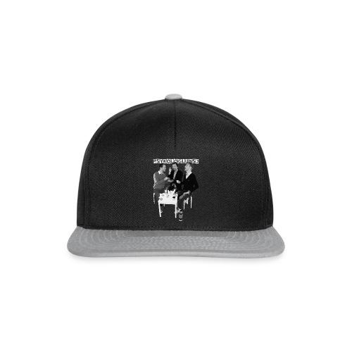 psykologlunsj greyscale hvitlogo paitning png - Snapback-caps