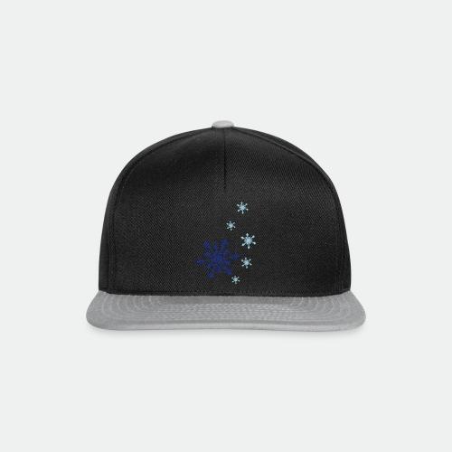 Snowflakes falling - Snapback Cap