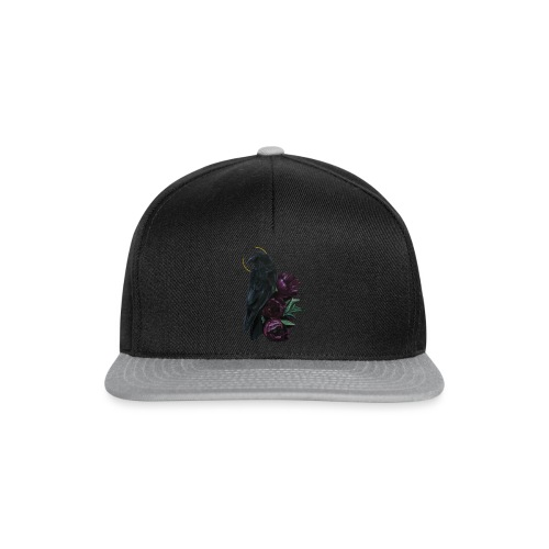crow and flowers - Snapback Cap