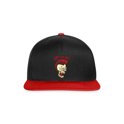 Eat The Rich (For Dark Shirts) - Snapback Cap