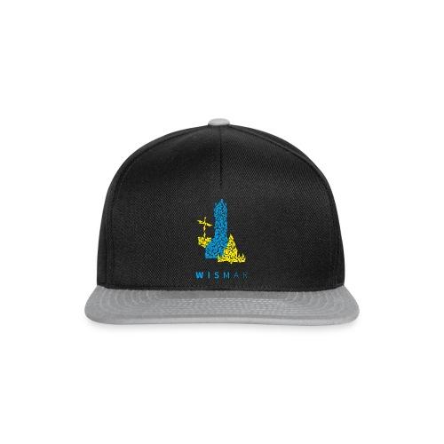 Wismar Dreiecksillustration blaugelb - Snapback Cap