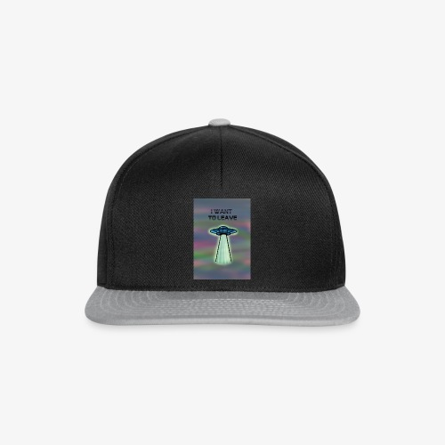 i want to leave - Snapback Cap