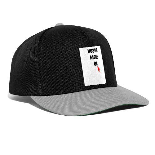 Opdruk 'hustle mode on' - Snapback cap