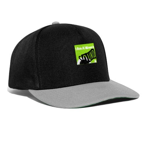 I am a woman in sound - Snapback Cap