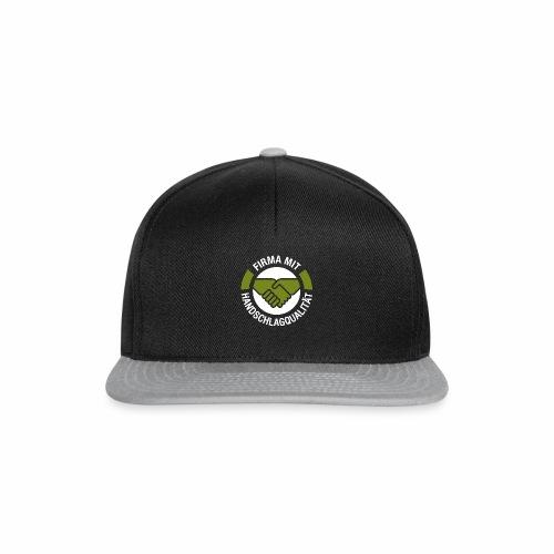 Handschlagqualität Logo weiss - Snapback Cap