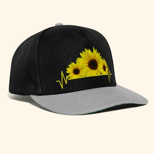 Sonnenblumen Herzschlag Sonnenblume Blumen Blüten - Snapback Cap