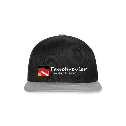 Tauchrevier Deutschland Logo classic weiß - Snapback Cap