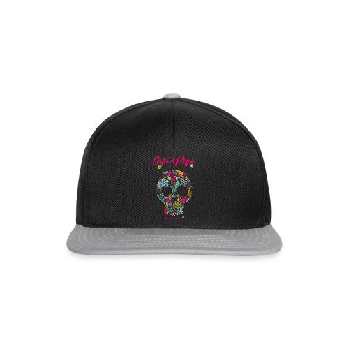 CdV FlowerSkull 1019 blk - Snapback Cap