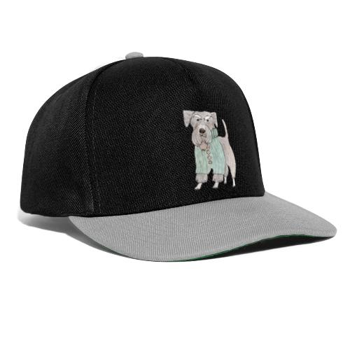 schnauzer with sweater - Snapback Cap