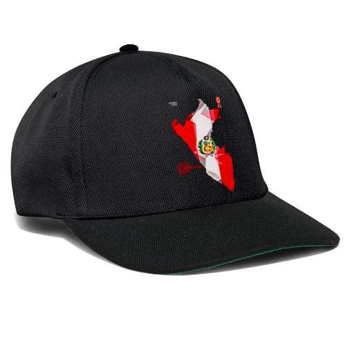 Mapa del Peru, Bandera und Escarapela - Snapback Cap